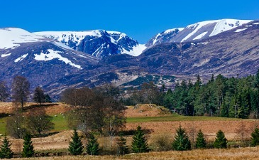 Cairngorms National Park by train