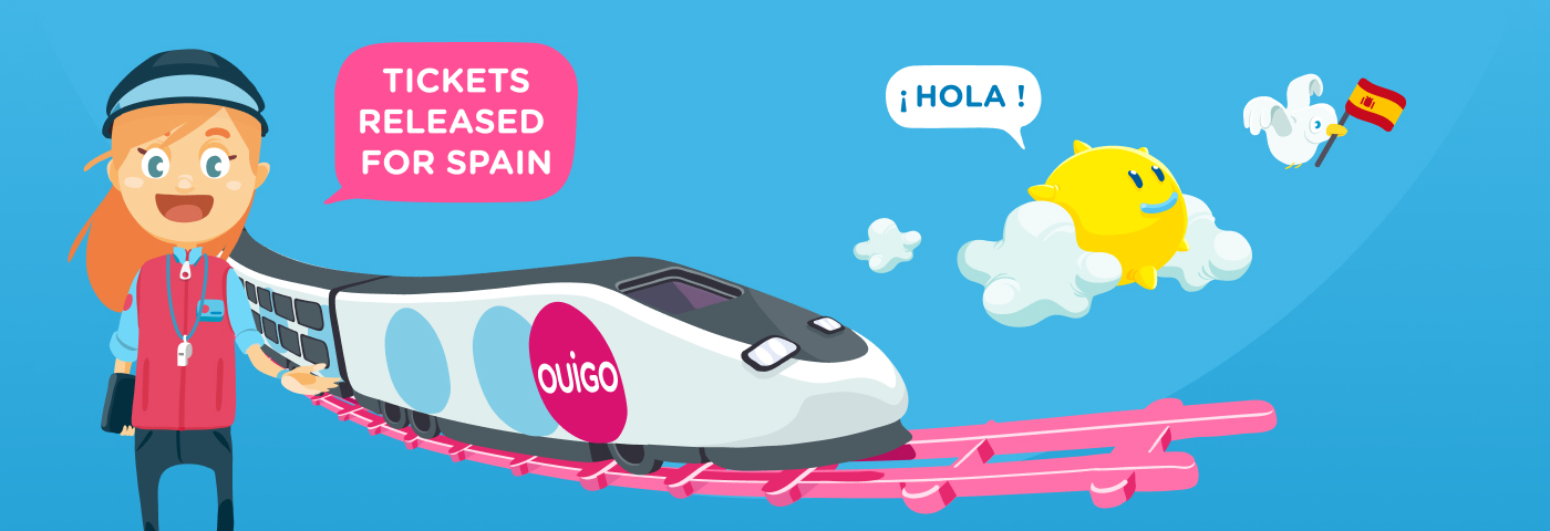 Tickets for the OUIGO network in Spain now on sale