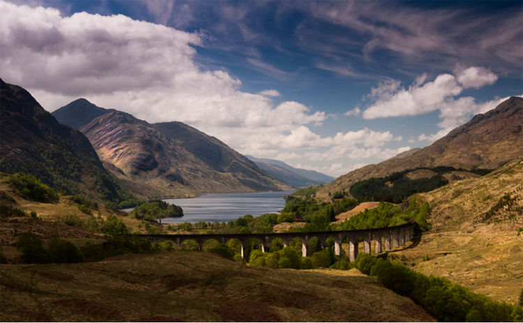 Scenic train trips: Glenfinnan Viaduct