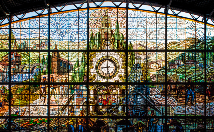 Stained glass - Bilbao station