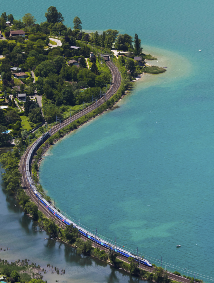 Europe's lakes and mountains by train - Lac de Bourget