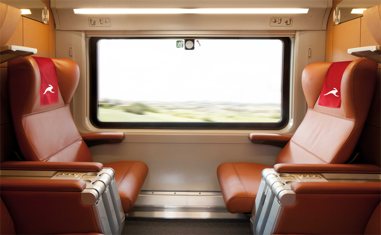 Loco2 partners with Italo - train interior