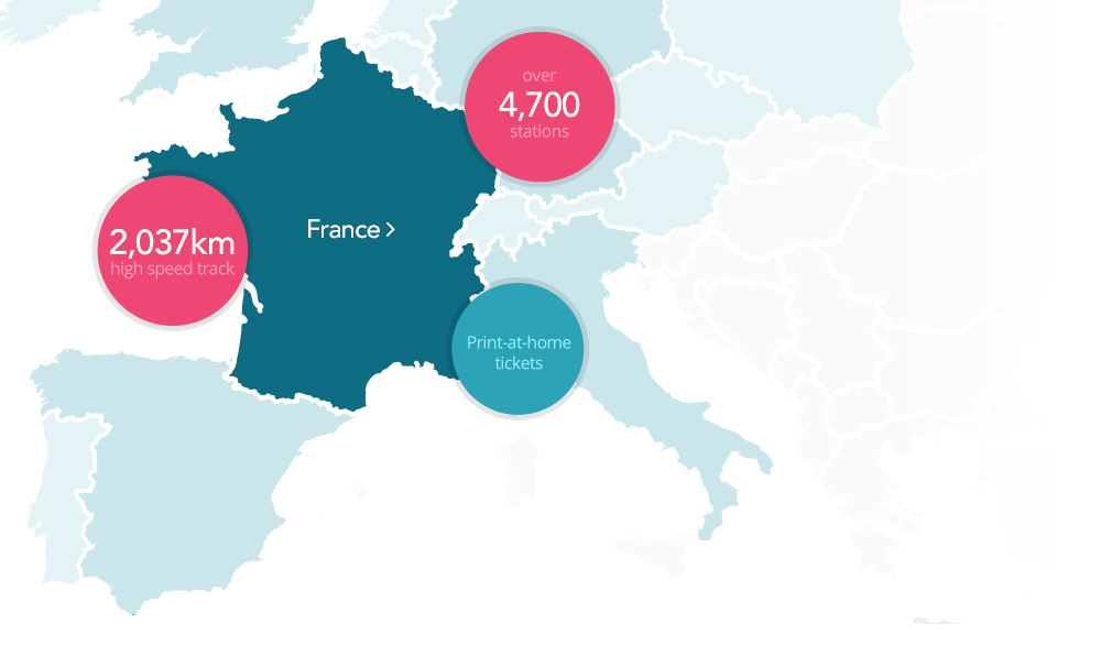 Trains In France Map.Trains To France Destinations Loco2