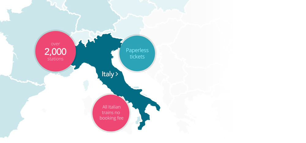 Train Travel In Italy Map.Trains To Italy Destinations Loco2